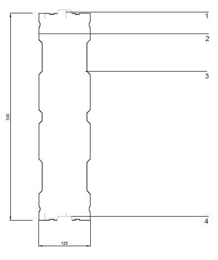 Aluminijumski paneli protiv buke AL-3 - presek