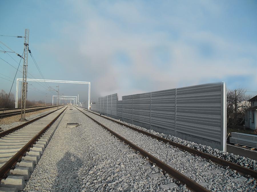 Ograde protiv buke na željeznicama-Beograd-Pančevo