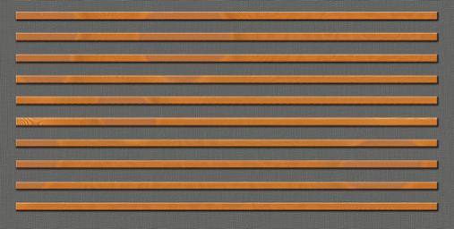 Drveni paneli protiv buke-horizontalna orijentacija letvi