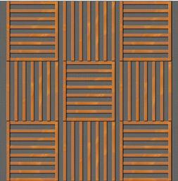Drveni paneli protiv buke-kombinovanje Dama