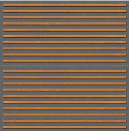 Drveni panel za zaštitu od buke - kombinacija horizontalno