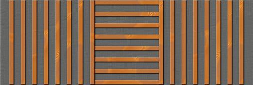 Drveni paneli protiv buke- orijanetacija letvi tipa Dama