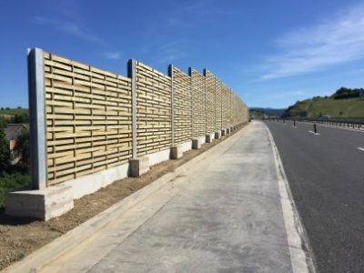 Drvena ograda protiv buke Križpolje- Hrvatska