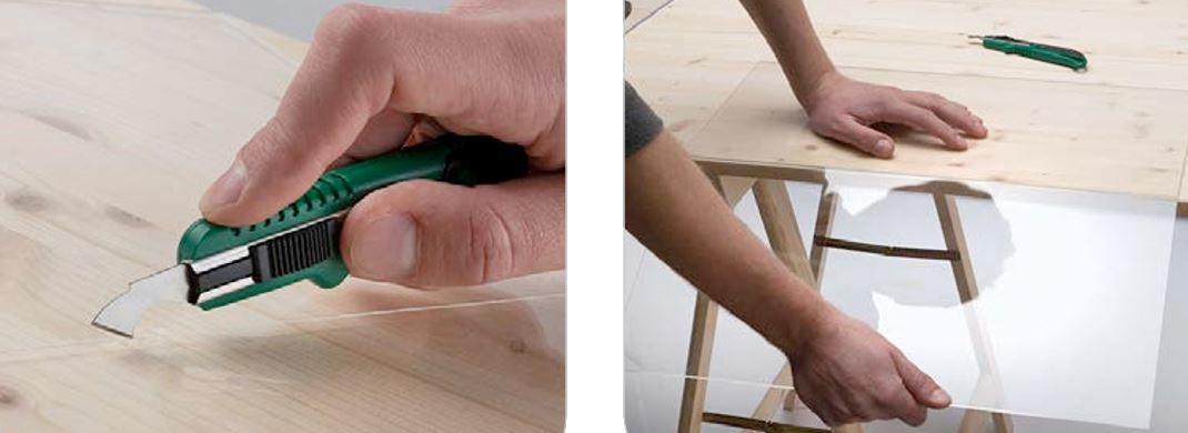 Policutter-nož za rezanje plastičnih ploča