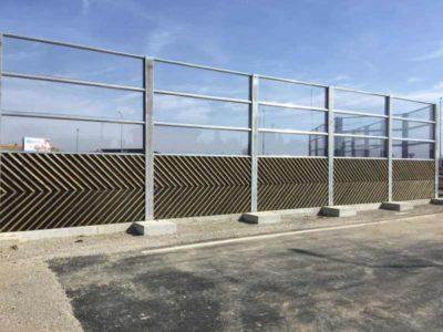 Drvena i transparentna zaščita od saobračajne buke Popovec Kašina
