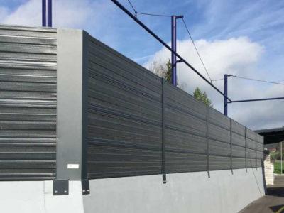 Ograda protiv industrijske buke Dana antracit siva