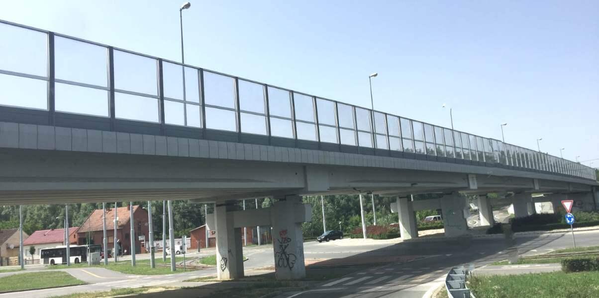 Transparentna zaštita od saobraćajne buke Višnjevac Osijek