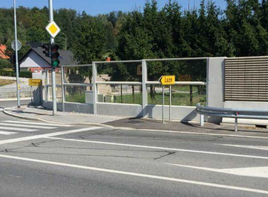 Transparentni zidovi za zaštitu od buke Črnova Velenje