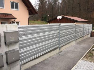 Zid za zaštitu od buke toplotne pumpe Medvode