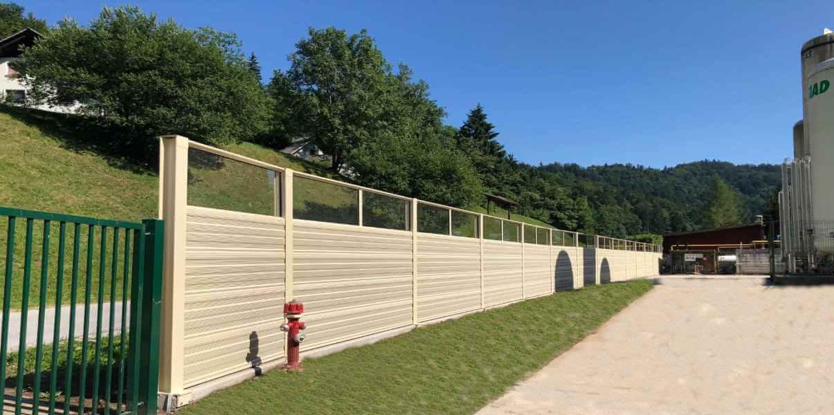 Aluminijumska zvučna barijera u industriji Borovlje-Slovenija